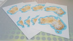 Catalogue Printed Australian Map Stickers