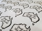 Custom Printed Dust off the Grind Contour Cut Stickers