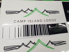 Custom Printed Camp Island Lodge Business Decals