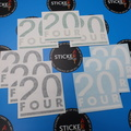 Custom Vinyl Cut 20 Four Layered Lettering Business Stickers