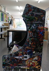 Custom Printed Fitted Retro Arcade Machine Wrap