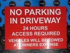 Custom No Parking in Driveway Printed Aluminium Composite Signage