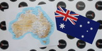 Catalogue Printed Australian Map and Flag Decals
