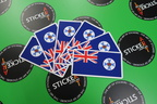 Catalogue Printed Perforated Cut Queensland Flag Stickers