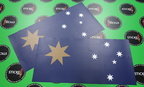 Custom Printed Matte Laminated Gold Federation Star Australian Flag Vinyl Stickers