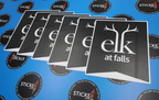 Custom Printed Matte Laminated Elk at Falls Logo Vinyl Stickers