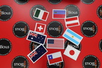 Catalogue Die-Cut Printed Various Country Flag Vinyl Stickers