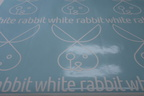Custom Vinyl Cut White Rabbit Business Temporary Floor Decal Stickers