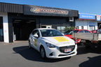Custom Ray White Indooroopilly Vehicle Business Signage Graphics Front Angle