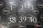 Custom Wedding Table Numbers Clear Acrylic Signage