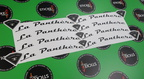 Custom Printed Contour Cut Die-Cut Texolabs La Panthere Vinyl Lettering Business Stickers