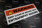 Custom Printed Warning Keep Clear Business Signage