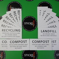 Custom Printed Matte Laminated Contour Cut Die-Cut Compost Landfill Recycling High Adhesive Vinyl Business Stickers