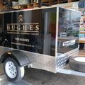 Custom Printed Installed Hughes Limousines Business Vehicle Signage Front Angle