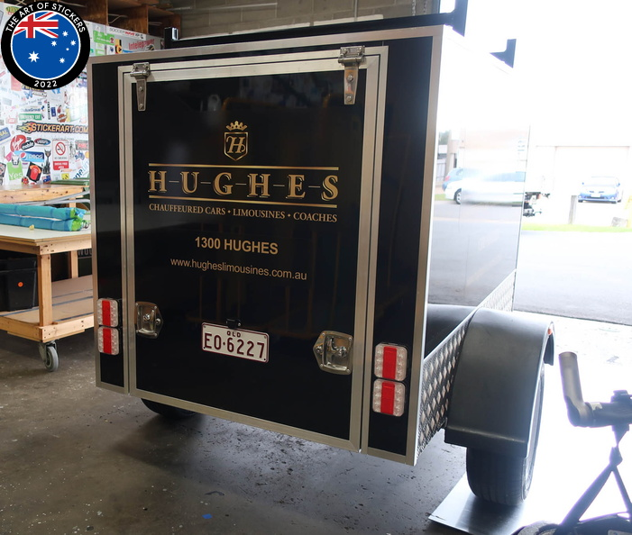Custom Printed Installed Hughes Limousines Business Vehicle Signage - Rear
