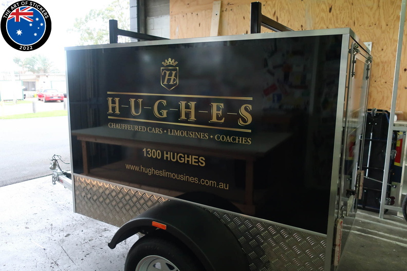 Custom Printed Installed Hughes Limousines Business Vehicle Signage Side