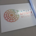 Custom Printed Contour Cut Die-Cut Affinity Wellness Vinyl Business Stickers