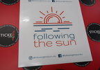Custom Printed Contour Cut Follow the Sun Vinyl Business Logo Social Media Stickers