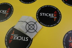 Custom Printed Clear on Reflective Cut Vinyl Business Target Stickers