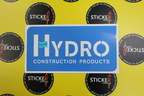 Custom Printed Contour Cut Hydro Construction Products Vinyl Business Logo Sticker