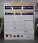 Custom Printed Darling Downs Health Daily Staff Placement Business Whiteboard