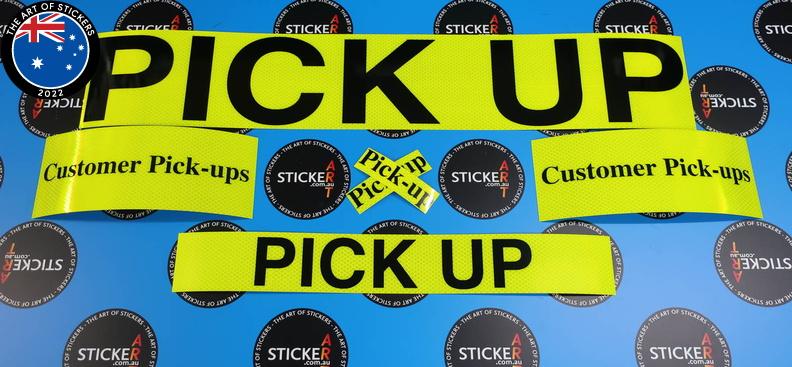 181123-custom-black-lettering-layered-on-yellow-reflective-customer-pick-up-business-stickers.jpg