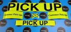 Custom Vinyl Cut Black Lettering Reflective Yellow Customer Pick Up Business Stickers
