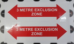 Custom Printed Contour Cut 3 Metre Exclusion Zone Vinyl Business Stickers