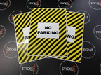 Custom Printed Contour Cut Die-Cut No Parking Vinyl Business Stickers