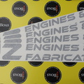 Custom Vinyl Cut Lettering DJZ Engines & Fabrication Business Stickers