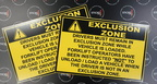 Custom Exclusion Zone Corflute Business Signage