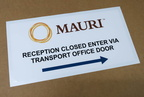 Custom Printed Contour Cut Mauri Reception Closed Vinyl Business Stickers