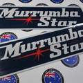 Catalogue Printed Contour Cut Die-Cut Murrumba Star Caravan Vinyl Business Stickers