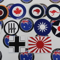 Custom Printed Contour Cut Die-Cut Airforce Country Badge Business Stickers Sheets