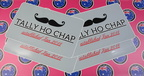 Custom Printed Contour Cut Die-Cut Tally-Ho-Chap Business Stickers