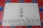 Custom Vinyl Cut Lettering Winner's Brew Coffee Business Logo Stickers