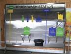 Custom Truck Wash Station Shadow Board Application