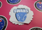 Custom Printed Matte Laminated Contour Cut Die-Cut Pine Rivers Swans Vinyl Business Stickers