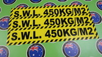 Catalogue Printed Contour Cut Die Cut Safe Working Load Vinyl Stickers