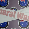 Custom Vinyl Cut Printed Clear Layered On Reflective General Waste Business Lettering Stickers.