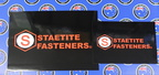 Custom Printed Staetite Fasteners Vinyl Business Stickers