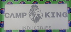 Vinyl Cut Camp King Business Logo Lettering Stickers