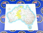 Catalogue Printed Contour Cut Map of Australia with Major Roads Vinyl Sticker