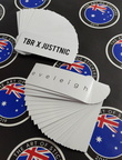 Custom Printed Contour Cut Die Cut Tbr X Justtnic Eveleigh Vinyl Business Stickers