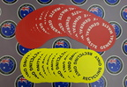 Custom Printed Contour Cut Die-Cut General Waste Recycling Only Vinyl Business Stickers