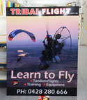 Custom Printed Learn To Fly Tribal Flight ACM Business Signage