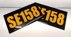 Custom Layered Black on Reflective Vinyl Cut Vehicle Call Sign Business Stickers