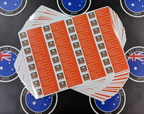 Bulk Custom Printed Contour Cut Die-Cut QRS Roofing Vinyl Business Sticker Sheets