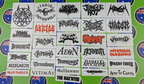 Custom Printed Contour Cut Die-Cut Various Metal Band Logo Vinyl Stickers
