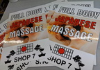 Custom Printed Japanese Massage Vinyl Business Signage Stickers